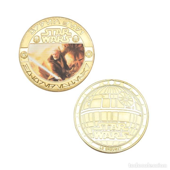 Medallas temáticas: ESTUPENDA COLECCIÓN DE 5 MONEDAS DE STAR WARS EN ESTUCHE DE TERCIOPELO. - Foto 5 - 210673136