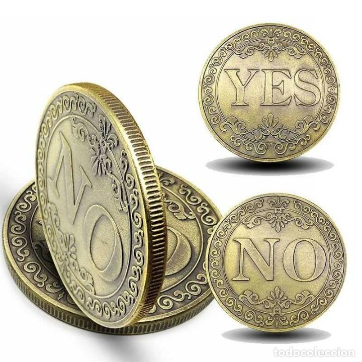 MONEDA DE COLECCION - SI O NO - EN RELIEVE - MONEDA DE LA SUERTE (Numismática - Medallería - Temática)