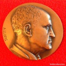 Medallas temáticas: MEDALLA DE BRONCE A FELIPE MATEU Y LLOPIS, 1971, 60 MM, BUEN EJEMPLAR.. Lote 199196887