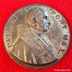 Medallas temáticas: MEDALLA DE LA PEREGRINACIÓN DE PABLO VI A TIERRA SANTA, 50 MM, DEL 4 AL 6 DE JUNIO DE 1964. Lote 199197900