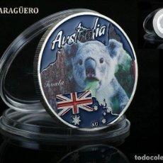Medallas temáticas: AUTRALIA 1 DOLAR TUVALU 2017 MEDALLA TIPO MONEDA PLATA ( KOALA AUSTRALIANO ) - PESO 32 GRAMOS - Nº1. Lote 199257276