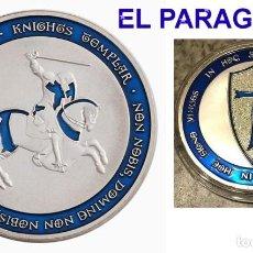 Medallas temáticas: MEDALLA PLATA TIPO MONEDA ( GUERRERO TEMPLARIO A CABALLO ) - PESO 33 GRAMOS - Nº2. Lote 199531892