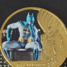 Medallas temáticas: EXCLUSIVA MONEDA DE ORO DE COLECCION DE BATMAN (MODELO 2). Lote 260104925
