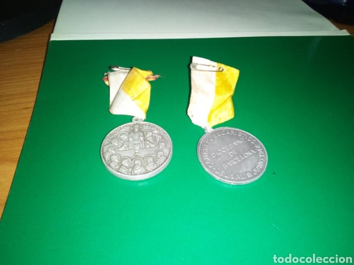 Medallas temáticas: Dos antiguas medallas del Congreso Eucarístico diocesano de Barcelona. 1942 y 1944 - Foto 2 - 201494246