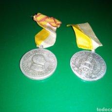 Medallas temáticas: DOS ANTIGUAS MEDALLAS DEL CONGRESO EUCARÍSTICO DIOCESANO DE BARCELONA. 1942 Y 1944. Lote 201494246
