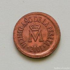 Medallas temáticas: ## MEDALLA FNMT - ULTIMO AÑO DE LA PESETA- 2001 ##. Lote 201510412