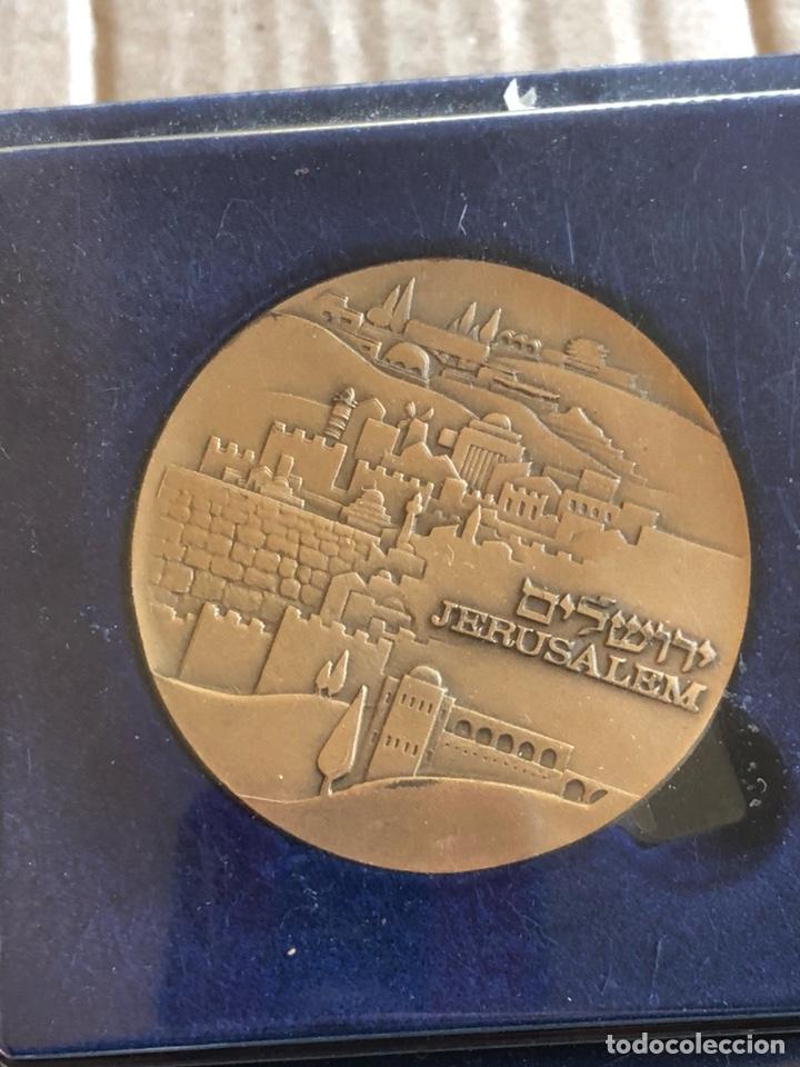 BONITA MEDALLA SOUVENIR DE JERUSALÉN, AÑOS 70 (Numismática - Medallería - Temática)