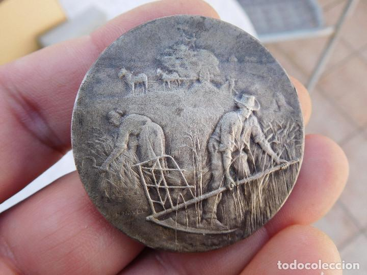 MEDALLA DE PLATA ARRONT DE CLAMECY COMICE AGRICOLE (Numismática - Medallería - Temática)