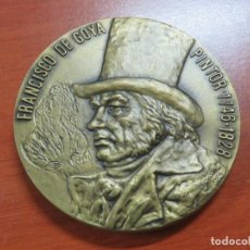 Medallas temáticas: GRAN MEDALLA FRANCISCO DE GOYA Y LA MAJA DESNUDA EN BRONCE ARMINDO VISEU Y A.RIBERIO 1974, SOLO 500 . Lote 202315377