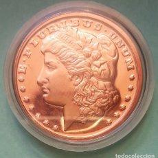 Medallas temáticas: ESTADOS UNIDOS - MEDALLA - MORGAN DOLAR - 1 OZ COBRE AVPD 999 FINO PURO, ENCAPSULADA. Lote 202662227