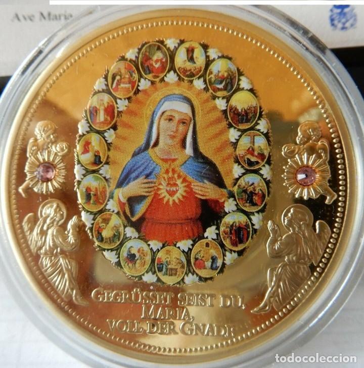 BONITA COLECCION DE 6 MONEDAS AVE MARIA DE LA CIUDAD DEL VATICANO EDICION LIMITADA CON CERTIFICADO (Numismática - Medallería - Temática)