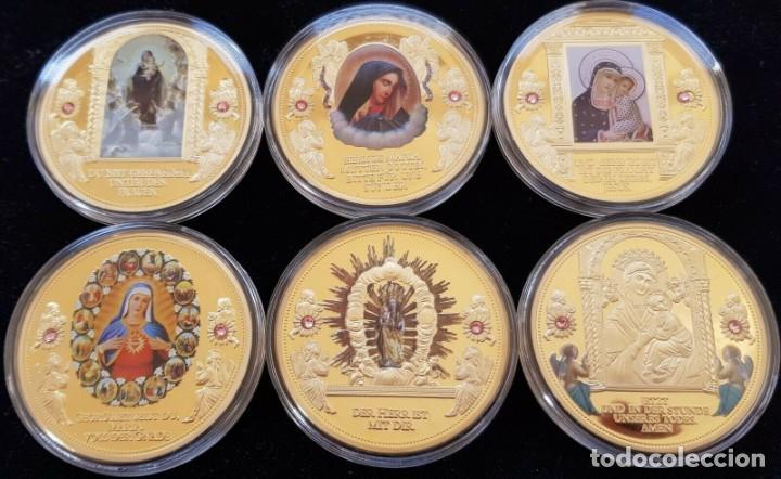 Medallas temáticas: BONITA COLECCION DE 6 MONEDAS AVE MARIA DE LA CIUDAD DEL VATICANO EDICION LIMITADA CON CERTIFICADO - Foto 3 - 202841032