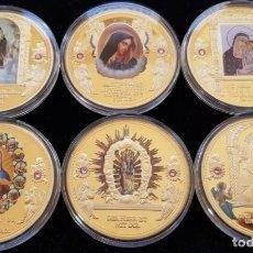 Medallas temáticas: BONITA COLECCION DE 6 MONEDAS AVE MARIA DE LA CIUDAD DEL VATICANO EDICION LIMITADA CON CERTIFICADO. Lote 202841032