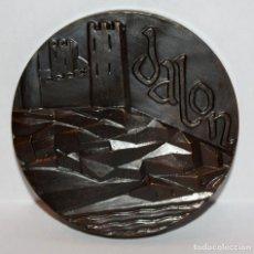 Medallas temáticas: MEDALLA REPRESENTATIVA AL RIO JALON. REALIZADA EN COBRE. Lote 203791668