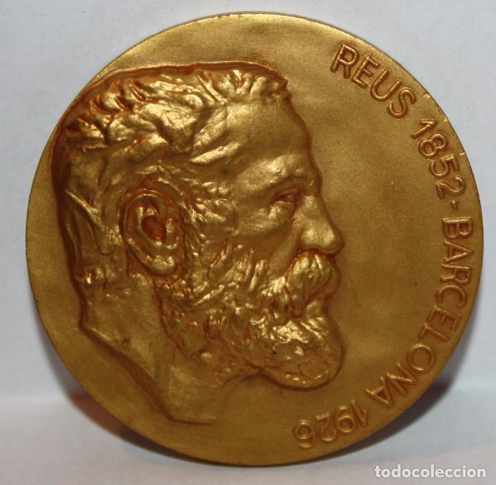 MEDALLA REPRESENTATIVA AL ARQUITECTO ANTONI GAUDI (REUS 1852 - 1926 BARCELONA) CALICO (Numismática - Medallería - Temática)