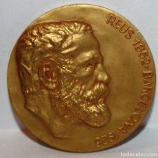 Medallas temáticas: MEDALLA REPRESENTATIVA AL ARQUITECTO ANTONI GAUDI (REUS 1852 - 1926 BARCELONA) CALICO. Lote 203800890