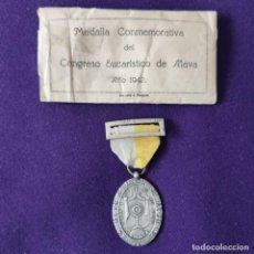 Medallas temáticas: MEDALLA CONMEMORATIVA DEL CONGRESO EUCARISTICO DE ALAVA. 1942. VITORIA.. Lote 203898336