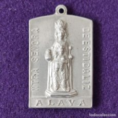 Medallas temáticas: MEDALLA DE LA VIRGEN DE ESTIBALIZ (ALAVA). PEREGRINACION VASCONGADA A LOURDES. ESCASA.. Lote 204056025