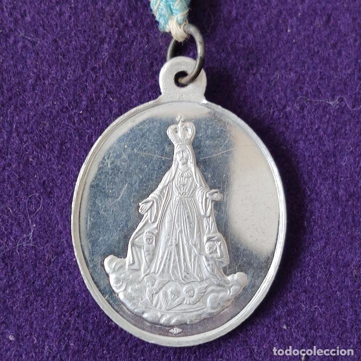 Medallas temáticas: MEDALLA DE VITORIA (ALAVA). ARCHICOFRADIA DEL AMOR HERMOSO. CON CINTA ORIGINAL. SIN CIRCULAR. - Foto 2 - 204056203