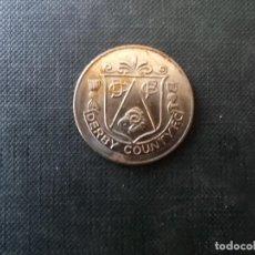 Medallas temáticas: MEDALLA DEL CENTANARIO CLUB DE FUTBOL DERBY COUNTY INGLATERRA 1872 - 1972. Lote 204509652
