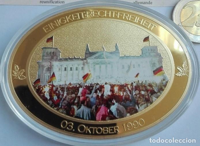 Medallas temáticas: BONITO MEDALLON XXL CON FORMA OVAL POR EL 25 ANIVERSARIO DE LA CAIDA DEL MURO DE BERLIN ALEMANIA - Foto 3 - 204691960