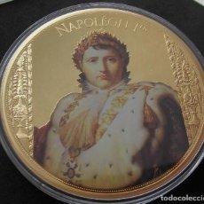 Medallas temáticas: GRAN MEDALLON XXXL DE NAPOLEON BONAPARTE EDICION MUY LIMITADA CON SU CERTIFICADO. Lote 204790367