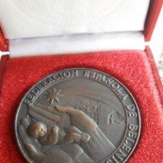 Medallas temáticas: MEDALLON, FEDERACIÓN ESPAÑOLA DE BELENISTAS. Lote 205129853