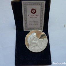 Medallas temáticas: MEDALLA PLATA PURA PERFECCCION HUMANA CARA DE ANGEL CUERPO ATLETA, ACUÑACIONES IBERICAS PESA 41 GRS.. Lote 205255816