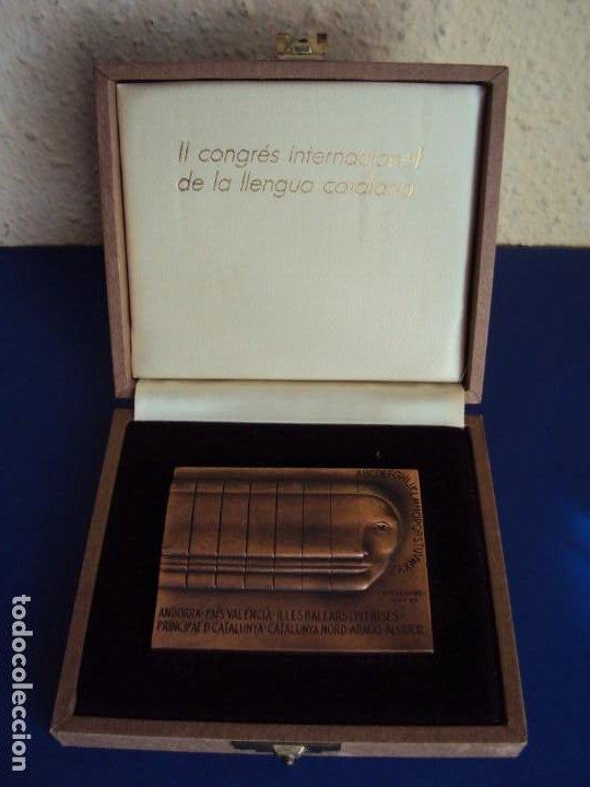(MED-200502)MEDALLA II CONGRÉS INTERNACIONAL DE LA LLENGUA CATALANA MCMVI-SUBIRACHS 1986 (Numismática - Medallería - Temática)