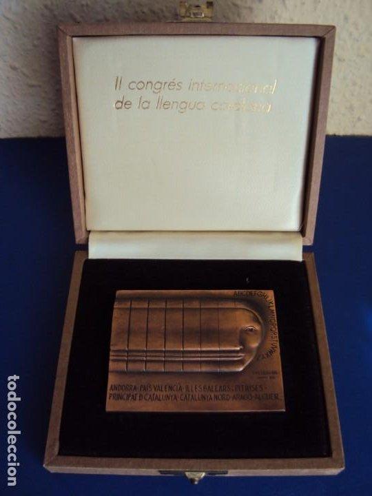 Medallas temáticas: (MED-200502)MEDALLA II CONGRÉS INTERNACIONAL DE LA LLENGUA CATALANA MCMVI-SUBIRACHS 1986 - Foto 2 - 205793161