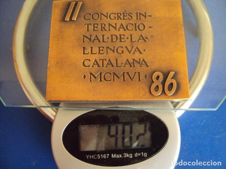 Medallas temáticas: (MED-200502)MEDALLA II CONGRÉS INTERNACIONAL DE LA LLENGUA CATALANA MCMVI-SUBIRACHS 1986 - Foto 5 - 205793161