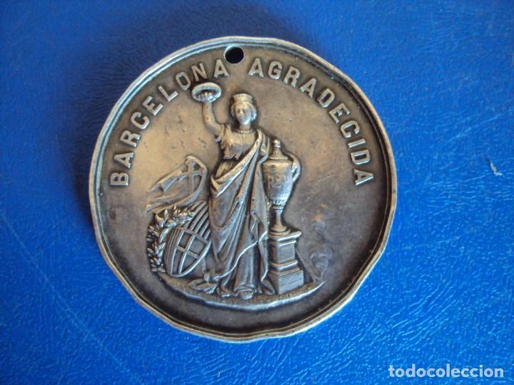 (MED-200513)MEDALLA DE PLATA EPIDEMIA FIEBRE AMARILLA 1870 - BARCELONA (Numismática - Medallería - Temática)