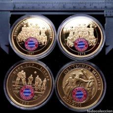 Medallas temáticas: E13. ALEMANIA. EXCLUSIVA SELECCIÓN DE 4 PIEZAS BAYERN MÜNICH. VER DESCRIPCIÓN. Lote 206188046