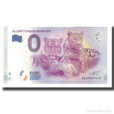 Medallas temáticas: ALEMANIA, TOURIST BANKNOTE - 0 EURO, GERMANY - MÜNSTER - ALLWETTERZOO - PARC. Lote 206293362