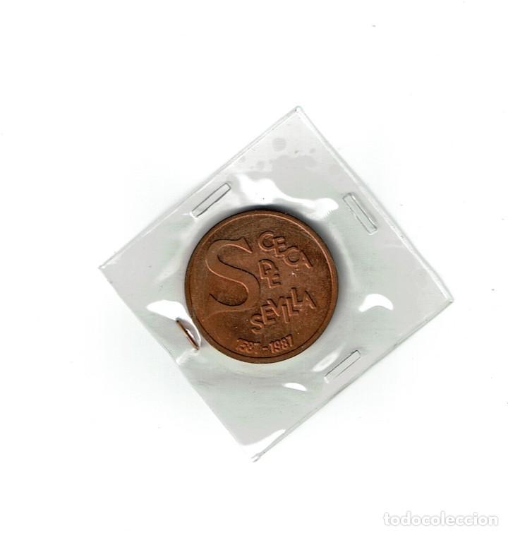Medallas temáticas: Medalla conmemorativa de CECA de Sevilla. FNMT 1983 - Foto 2 - 218491826