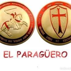 Medallas temáticas: MEDALLA ORO TIPO MONEDA ( CABALLERO TEMPLARIO A CABALLO ) Nº1. Lote 206500326