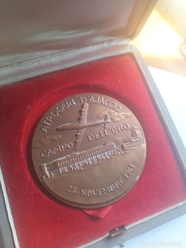 MEDALLA BRONCE CHAMBRE COMERCE D INDUSTRIE ARROGANTE D AJACCIO 1961 (Numismática - Medallería - Temática)
