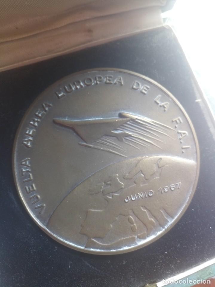 MEDALLA VUELTA AÉREA EUROPEA DE LA FAO 1967 RACE (Numismática - Medallería - Temática)