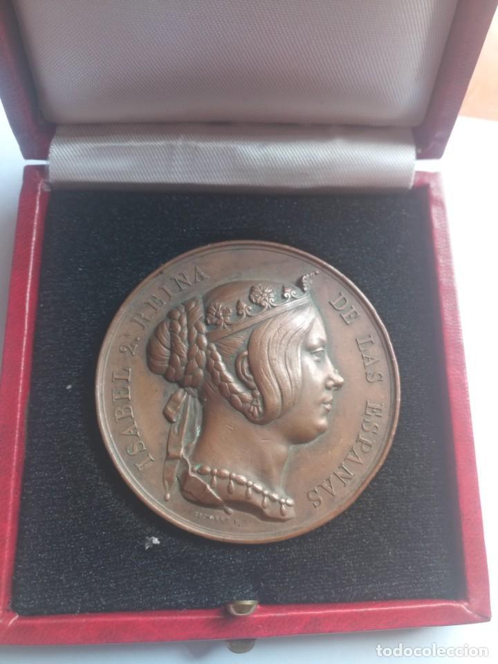 MEDALLA BRONCE ISABEL 2 REINA ESPAÑA 1847 REGIMIENTO INGENIEROS (Numismática - Medallería - Temática)