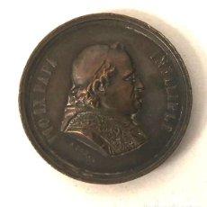 Medallas temáticas: MEDALLA VATICANO. PIO IX PAPA INFALIBLE. ASIS. I ROMERIA ESPAÑOLA AL VATICANO. 16 OCTUBRE 1876. Lote 206980932