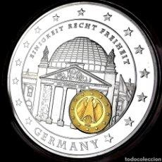 Medallas temáticas: ESCASA CONM. PROOF. BAÑOS ORO Y PLATA. ALEMANIA. 10 AÑOS UNIDAD ECONÓMICA. 51,5G / 50MM. Lote 207010738