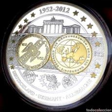 Medallas temáticas: ESCASA CONM. PROOF. BAÑOS ORO Y PLATA. ALEMANIA. TRANSICIÓN DEL DM AL EURO. 51,5G / 50MM. Lote 207010966