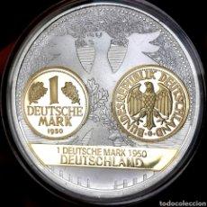 Medallas temáticas: ESCASA PROOF. BAÑO ORO Y PLATA. ALEMANIA. CONMEMORATIVA DEUTSCHE MARK. 50G / 50MM. Lote 207022925