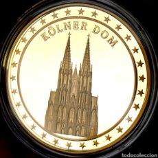 Medallas temáticas: ESCASA PROOF. BAÑO DE ORO. ALEMANIA. KOLNER DOM. 22,7G / 40MM. Lote 207023152