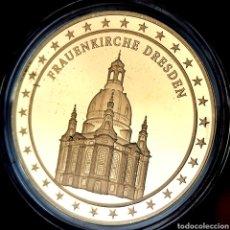 Medallas temáticas: ESCASA PROOF. BAÑO DE ORO. ALEMANIA. FRAUENKIRCHE DRESDEN. 22,7G / 40MM. Lote 207023403
