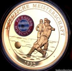 Medallas temáticas: MUY ESCASA PROOF. BAÑO DE ORO. ALEMANIA. BAYERN MÜNICH 1932. 29G / 40MM. Lote 207023760