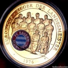 Medallas temáticas: MUY ESCASA PROOF. BAÑO DE ORO. ALEMANIA. BAYERN MÜNICH 1976. 29G / 40MM. Lote 207023852