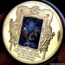 Medallas temáticas: MUY ESCASA PROOF. BAÑO DE ORO. VATICANO. PADRENUESTRO. 54G / 50MM. Lote 207024068