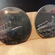 Medallas temáticas: COLECCION DE DIEZ MEDALLAS GRANDES TRANSATLÀNTICOS ENTRE ELLAS EL TITANIC. VER FOTOGRAFIAS DE TODAS.. Lote 207042061