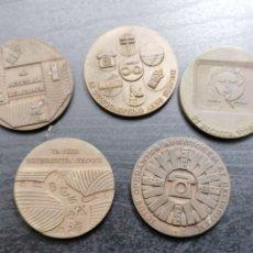 Medallas temáticas: MONEDAS MEDALLAS TELEFONICA 1971 A 1975 EN BRONCE. Lote 207480081